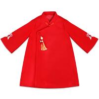 女童唐装新年装女宝宝装过年喜庆衣服中国风童装汉服拜年服