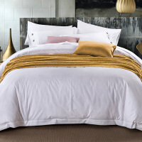 君别酒店床上用品四件套纯白宾馆套件1.8m2.0m样板房床品套件