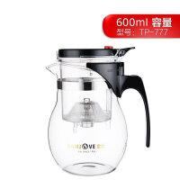 金灶 TP-777茶道杯泡茶壶飘逸杯玻璃过滤茶具花茶杯 600ml