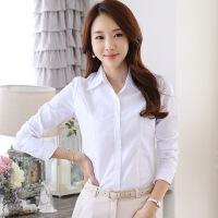 夏季新款长袖衬衫女OL韩版免烫职业工装显瘦百搭修身雪纺短袖白