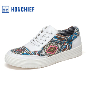 HONCHIEF 红蜻蜓旗下2017春季新款潮流拼接板鞋韩版舒适男士单鞋