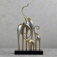 简约现代家居轻奢装饰客厅电视柜象艺术摆件新中式大象摆设品