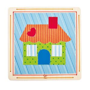 【特惠】HapeDIY布贴画-我的小屋4岁以上儿童创意早教布贴画E5105