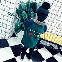 男童2017装新款婴幼儿童夹棉呢子大衣1234岁宝宝毛呢中长款外套 绿色