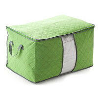 竹炭透明窗棉被收纳袋 防尘袋整理袋装被子的袋子家用衣服物行李搬家打包袋 打包袋搬家整理的袋子 绿色