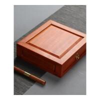 茶饼收纳柜 实木普洱茶盒木多层储茶盒收纳盒抽屉式储茶盒 缅甸臻品花梨木单层茶盒 送实木茶刀