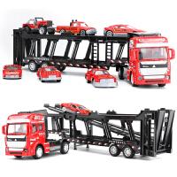 儿童玩具模型回力小汽车合金货柜双层平板运输车拖头大卡车轿运车