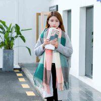 围巾 男女士仿羊绒大格子情侣流苏围巾2020年冬季新款韩版时尚潮流男女式休闲洋气女装披肩