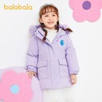 【2件6折:353.4】巴拉巴拉�和�羽�q服女童秋冬2020新款童�b����外套