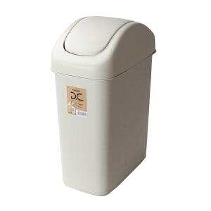 Lustroware 原装进口摇盖垃圾桶17.5L 白色L-2002/MW