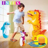 INTEX不倒翁玩具充气宝宝加厚加大号婴儿益智不到翁小孩儿童玩具
