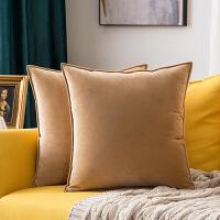 北欧天鹅绒抱枕靠垫纯色靠枕办公室护腰靠垫客厅沙发抱枕套不含芯 60x60cm抱枕套+枕芯 (芯比套大5cm)