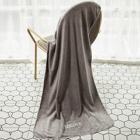 君别速干毛巾浴巾家用比吸水柔软儿童加大浴巾男女裹巾不易掉毛 灰色-晚安浴巾 65*135cm 70x140cm