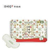包邮!韩国 贵爱娘中草药无荧光剂 日用卫生巾250mm*18片