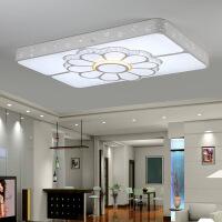 客厅灯 水晶灯 长方形LED吸顶灯1.2米客厅大灯长方形水晶灯简约现代精灵智能婚房灯