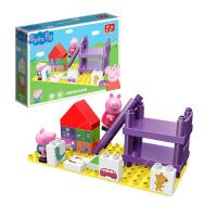 邦宝小猪佩奇大颗粒益智积木儿童拼插玩具小猪佩奇的玩具屋9327