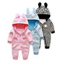 【99元任选3件】罗町婴儿连体衣秋冬兔子造型哈衣外出爬服