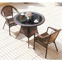 美立居工坊阳台户外庭院藤椅桌椅(一桌两椅)组合MLJ-ZY11
