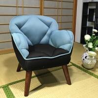 20190402225404094喂奶椅 单人孕妇靠背哺乳沙发椅子 日式小户型布艺沙发和室椅 蔚天兰 限时