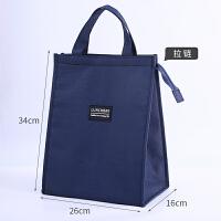 加厚装饭盒袋子铝箔保温袋帆布带饭菜的便当包保暖冷藏上班手提袋