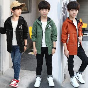 童装男童外套2018秋季新款X风衣中大童韩版上衣外套