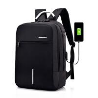 商务旅行防盗密码锁双肩包背包学生书包USB耳机接口多功能电脑包