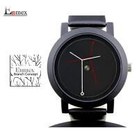 情人节礼物创意设计树枝概念款中性手表简约两针手表