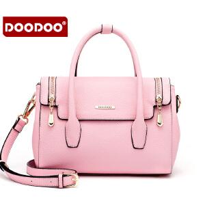 【支持礼品卡】DOODOO 包包2017新款时尚夏季欧美风OL百搭女包手提单肩斜挎女士大包包 D6026