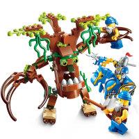 启蒙 海盗军事荣耀之战系列儿童拼插积木益智玩具男孩礼物 围堵树人2302
