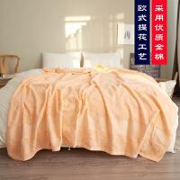 老式毛巾被纯棉毯子单人双人加厚全棉夏季空调办公室午睡怀旧柔软