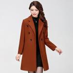女款外套中长款2017秋冬新款中老年女装妈妈装加肥加大大码韩版大衣  bj-F193-808