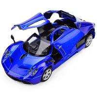仿真跑车合金车模 儿童玩具声光回力小汽车模型男孩玩具