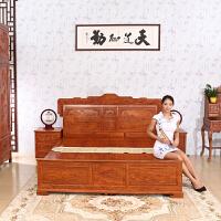 包邮简迪红木床主卧室实木床1.8米花梨木大床双人床新中式经济型婚床