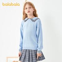 【3件35折价:59.5】巴拉巴拉女童毛衣女童针织衫春装中大童甜美洋气时尚
