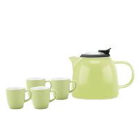 【家装节 夏季狂欢】陶瓷茶壶家用红茶泡大单壶过滤花茶水壶茶具套装 +4杯