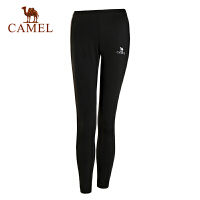 camel骆驼户外运动裤 女款耐磨透气针织运动长裤