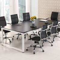 柏易 环保办公钢木会议桌A款 经济型办公桌椅易拆装简约现代电脑桌培训桌职员桌