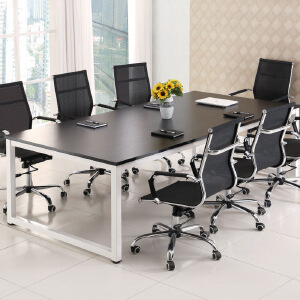 柏易 环保加厚办公桌钢木会议桌A款 经济型办公桌椅易拆装简约现代电脑桌培训桌职员桌