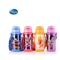 迪士尼吸管水杯儿童水杯壶 儿童宝宝真空不锈钢保温杯 5672