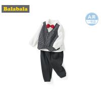 【11.21超品 3折价:107.7】巴拉巴拉男童套装儿童秋装2019新款婴儿衣服两件套洋气外穿小礼服