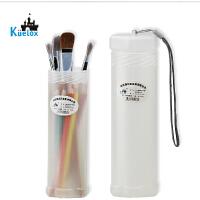 高尔乐伸缩笔筒 创意装笔筒 收纳笔筒 透明塑料笔筒 画笔收纳桶