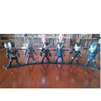 复仇者联盟2模型摆件Q版i钢铁侠3手办可动可发光1-4代6款一套