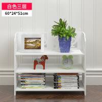 书架置物架落地简易置物柜现代简约书柜装饰转角架置物架木塑书架 图片显示尺寸