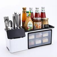 创意多功能调料盒置物架调料瓶收纳架调味罐收纳盒调味品厨房用品套装