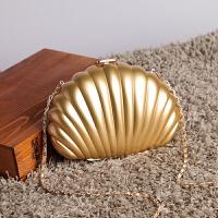 珍珠包包小香风球形包链条晚宴包斜跨手单肩包女包地球包 色 贝壳款可放7p