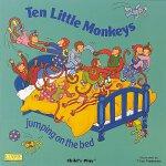 【现货】英文原版 儿歌洞洞书:十只小猴子在床上蹦蹦跳跳(纸板书) Ten Little Monkeys Jumping