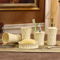 欧式陶瓷卫浴五件套浴室洗漱套装简约洗漱套装精美漱口杯 安全包装