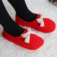 月子鞋秋冬季日式半包跟软底室内家居地板女士产后居家月子棉拖鞋