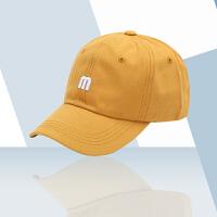 帽子韩版棒球帽刺绣嘻哈帽ins潮牌女男士遮阳显脸小薄款速干新款