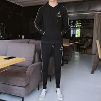 秋季卫衣套装男2018新款韩版潮流连帽衫休闲运动外套学生秋装一套969